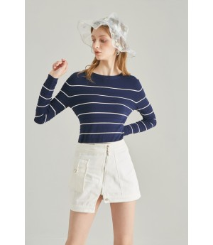 Rumia In Full Knit Jumper-Navy