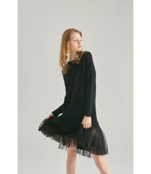 Rumia Mirage Knit Dress-Black