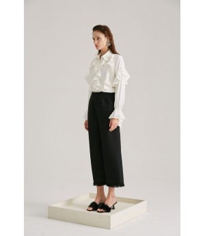 Rumia Rumor Tassel Pants-Black