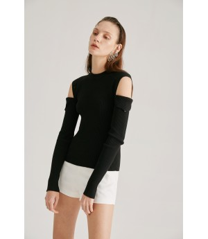 Rumia Mazeuke Knit Jumper-Black