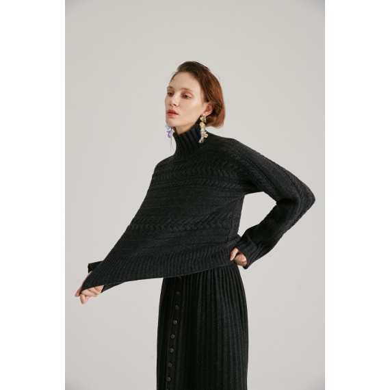 Rumia Sivan Knit Set-Black