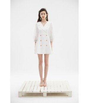 Rumia Nightfall Blazer Dress-Ivory