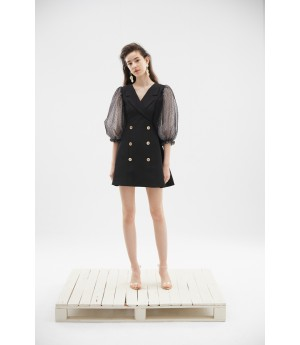 Rumia Nightfall Blazer Dress-Black