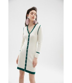 Rumia Verselet Knit Dress-Ivory