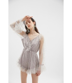 Rumia The Stars Playsuit-Cloudy Grey