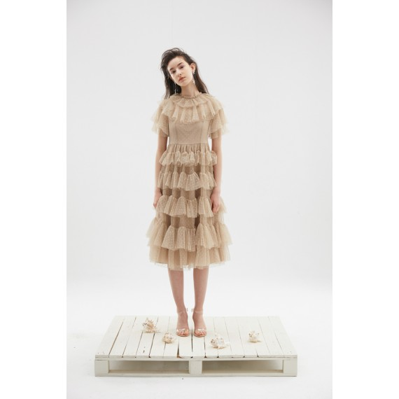Rumia Flower Dance Dress-Apricot