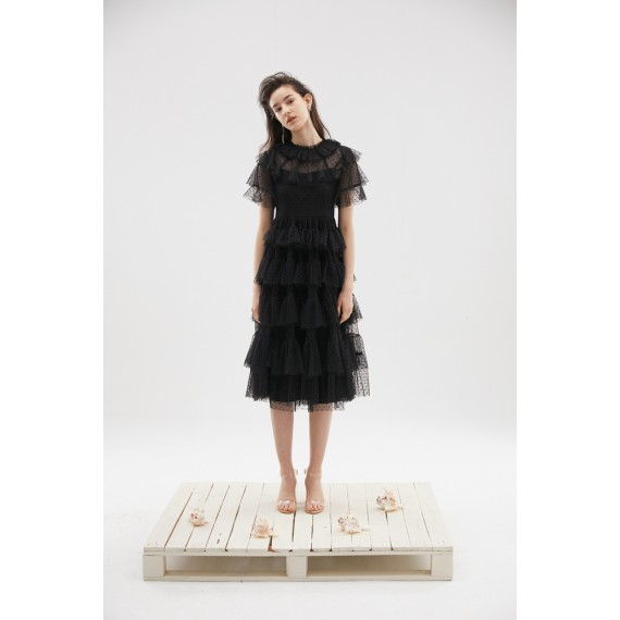Rumia Flower Dance Dress-Black