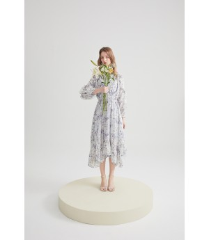 Rumia Life Change Dress-Blue Floral