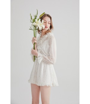 Rumia Desired Zone Playsuit-Ivory
