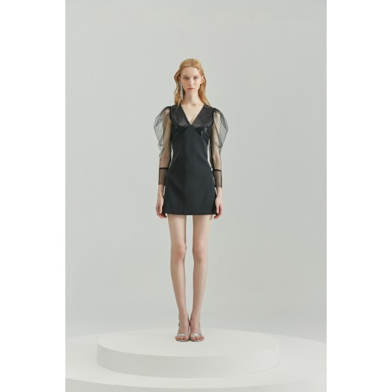Rumia Jodie Dress-Black