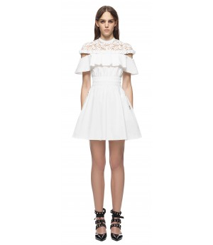 Self-Portrait Hudson Mini Dress White