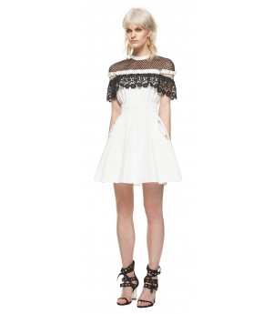 Self-Portrait Monochrome Hudson Mini Dress