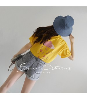SomeOthers Fruit Cloud T-Shirt-Yellow
