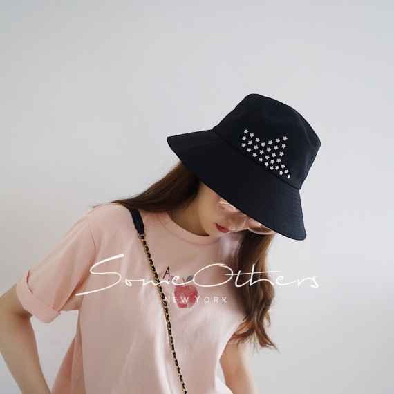 SomeOthers Star Bucket Hat-Black