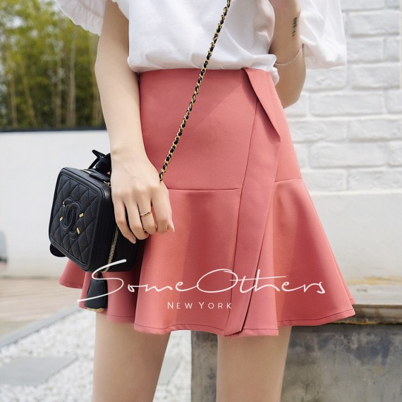 SomeOthers Trumpet Mini Skirt-Pink