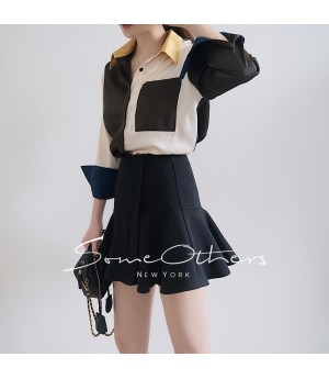 SomeOthers Trumpet Mini Skirt-Black