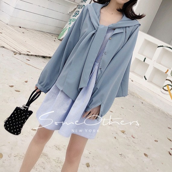 SomeOthers Hooded Shirt-Blue
