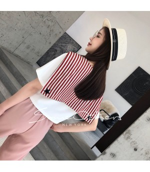 SomeOthers Short Sailor Shirt-Pink