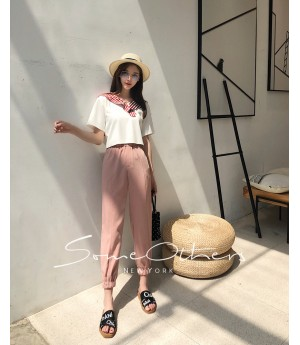 SomeOthers Harem Pants-Pink