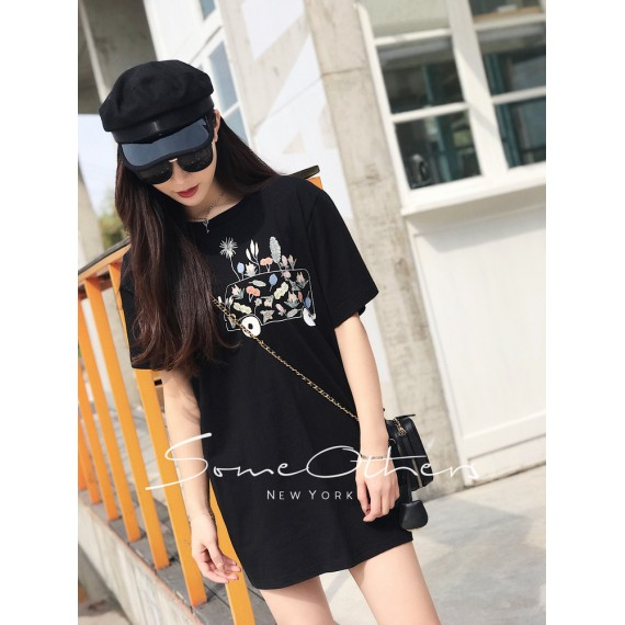 SomeOthers Flora T-Shirt-Black