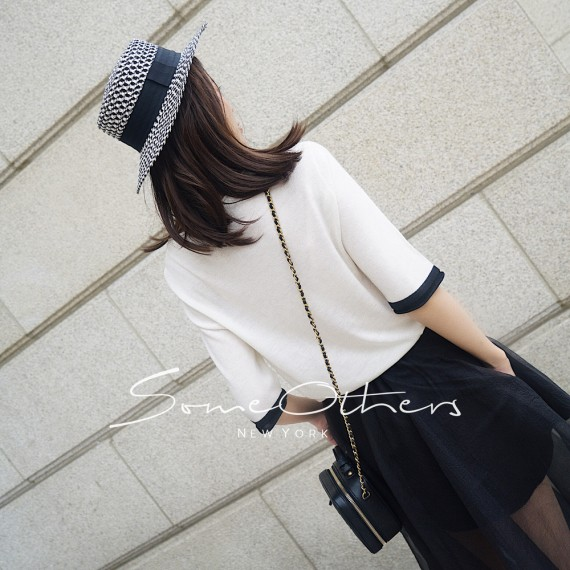 SomeOthers Short Sleeve Knit Tees-White