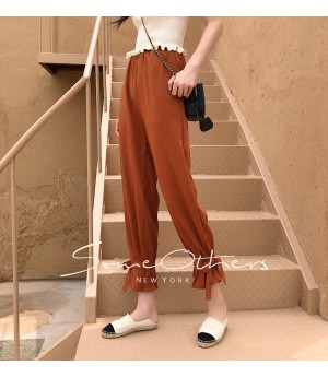 SomeOthers Harem Pants-Pumpkin Color