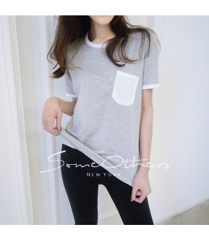 SomeOthers Pocket Tees-Silver