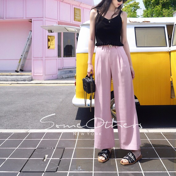 SomeOthers Flare Pants-Pink