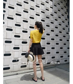 SomeOthers Buttoned Knit Tops-Yellow