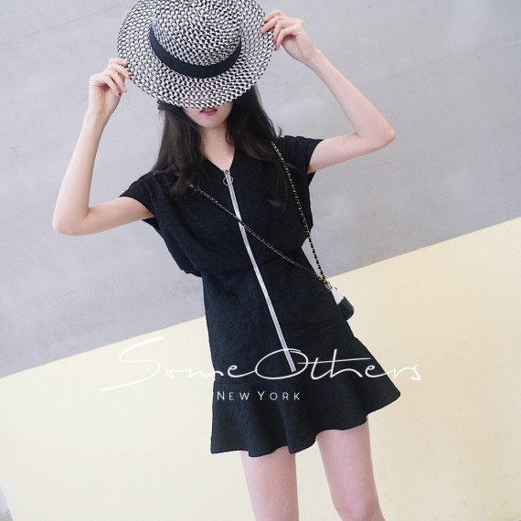 SomeOthers Fit And Flare Dress-Black