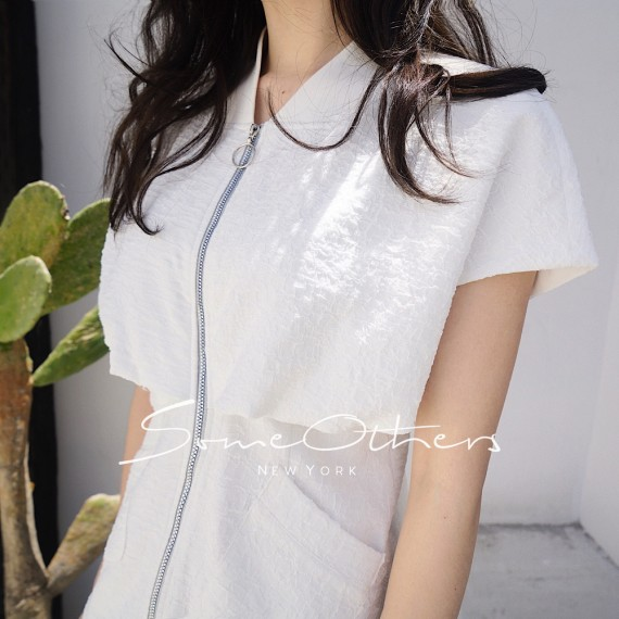 SomeOthers Fit And Flare Dress-White