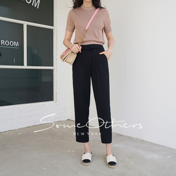 SomeOthers Casual Pants-Black