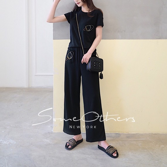 SomeOthers Two-Piece Graphic Set-Black