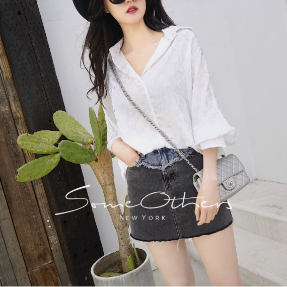 SomeOthers Batwing Sleeve Blouse-White