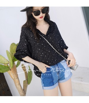 SomeOthers Batwing Sleeve Blouse-Black