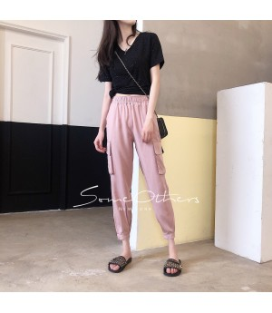 SomeOthers Magic Pocket Harem Pants-Pink