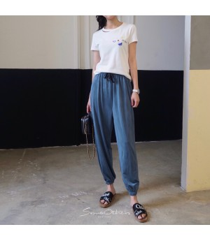 SomeOthers Silk Harem Pants-Blue