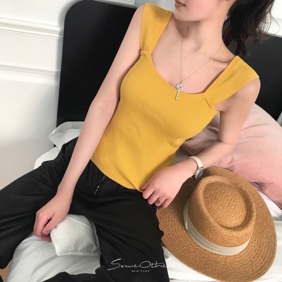 SomeOthers Knit Tops-Yellow