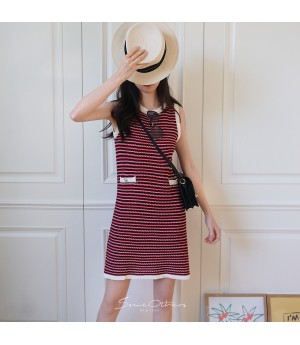 SomeOthers Hairy Knit Dress-Red