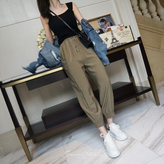 SomeOthers Casual Pants-Green