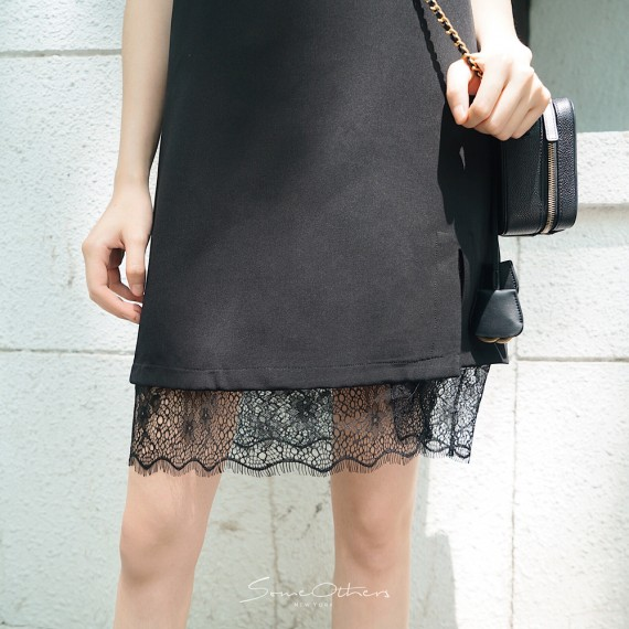 SomeOthers Lace Slip Dress-Black