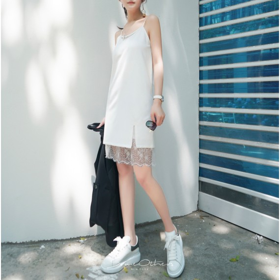 SomeOthers Lace Slip Dress-White
