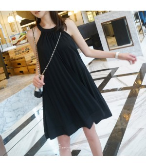 SomeOthers Pleated Dress-Black