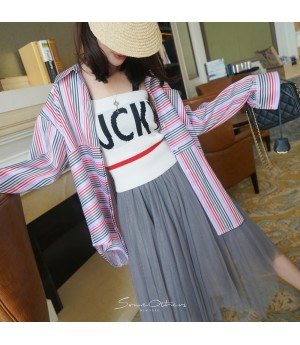 SomeOthers Multicolor Stripe Shirt-Red