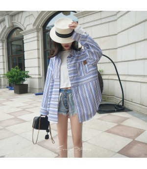 SomeOthers Multicolor Stripe Shirt-Blue