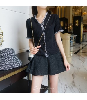 SomeOthers Short Sleeve Knit Shirt-Black