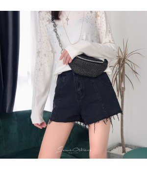 SomeOthers Denim Jeans Short-Black