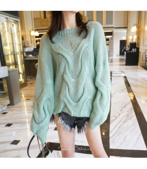 SomeOthers Mohair Sweater-Green Tea