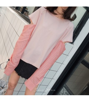 SomeOthers Long Sleeve Shirt-Pink