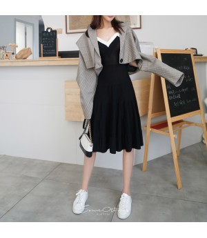 SomeOthers Knit Dress-Black